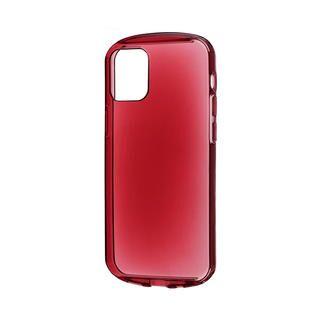 iPhone 12 mini (5.4インチ) ケース 耐衝撃ソフトケース「CLEAR Round」 クリアレッド iPhone 12 mini