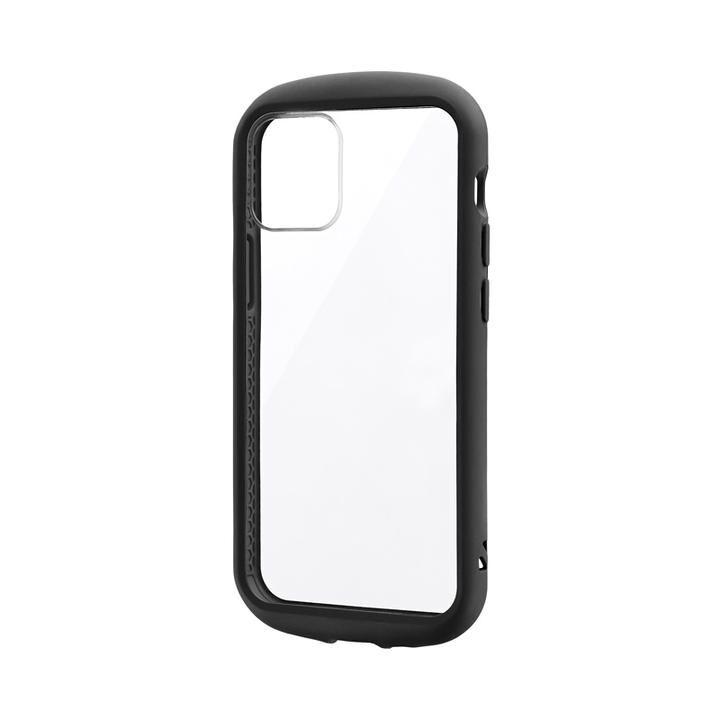 耐衝撃ハイブリッドケース「PALLET CLEAR Flat」 ブラック iPhone 12 mini_0