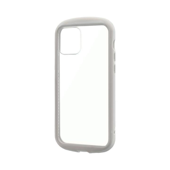 耐衝撃ハイブリッドケース「PALLET CLEAR Flat」 ライトグレー iPhone 12/iPhone 12 Pro_0