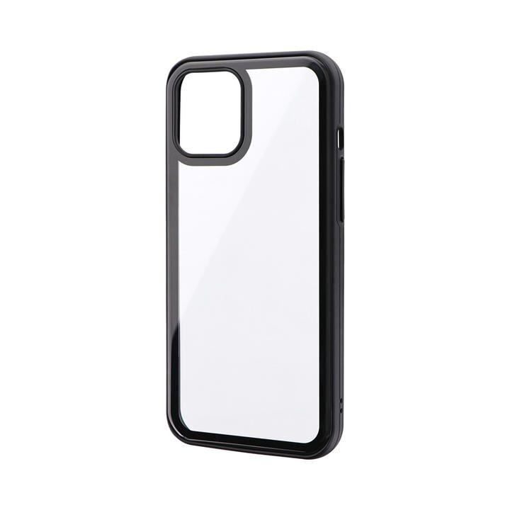 背面3Dガラスシェルケース「SHELL GLASS Round」 ブラック iPhone 12 Pro Max_0