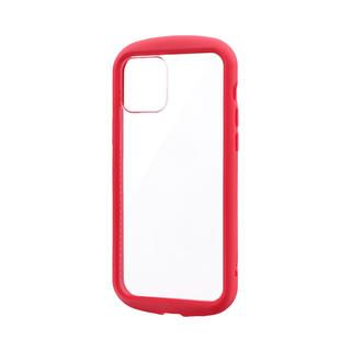 iPhone 12 / iPhone 12 Pro (6.1インチ) ケース 耐衝撃ハイブリッドケース「PALLET CLEAR Flat」 レッド iPhone 12/iPhone 12 Pro