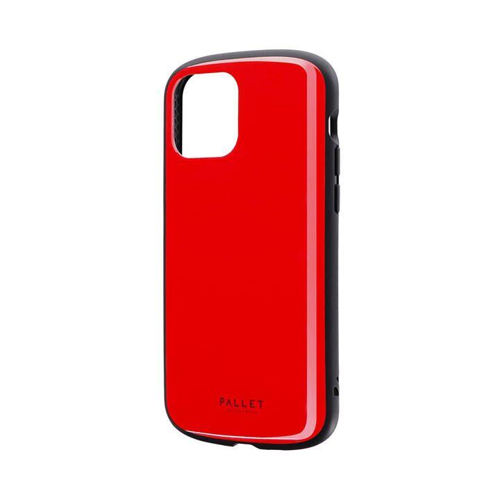 超軽量・極薄・耐衝撃ハイブリッドケース「PALLET AIR」 レッド iPhone 12/iPhone 12 Pro_0