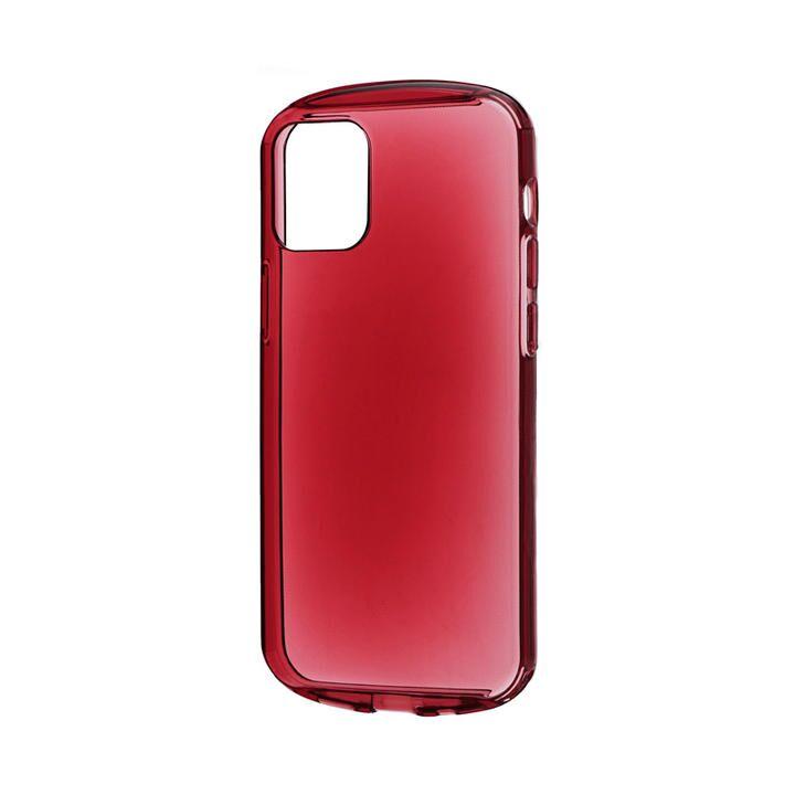 耐衝撃ソフトケース「CLEAR Round」 クリアレッド iPhone 12 mini_0