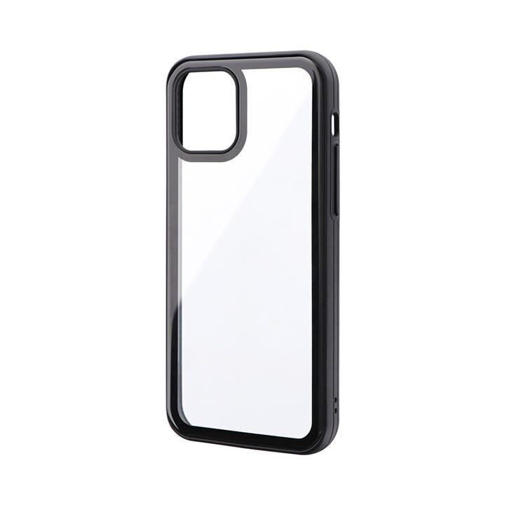背面3Dガラスシェルケース「SHELL GLASS Round」 ブラック iPhone 12/iPhone 12 Pro_0