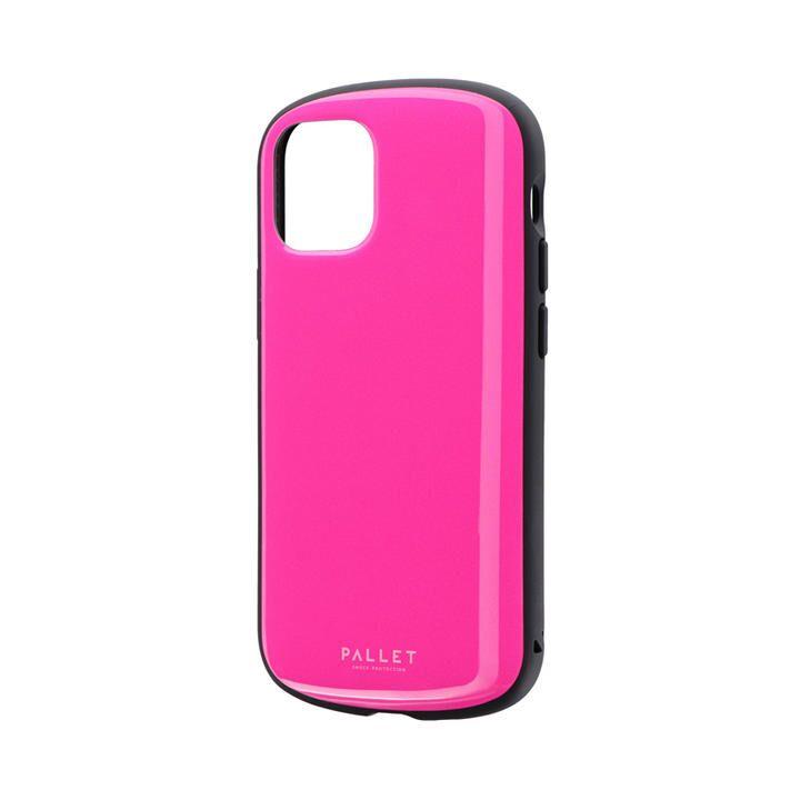 超軽量・極薄・耐衝撃ハイブリッドケース「PALLET AIR」 ホットピンク iPhone 12 mini_0