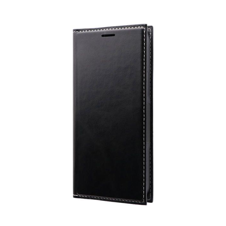 薄型PUレザーフラップケース「PRIME」 ブラック iPhone 12 mini_0