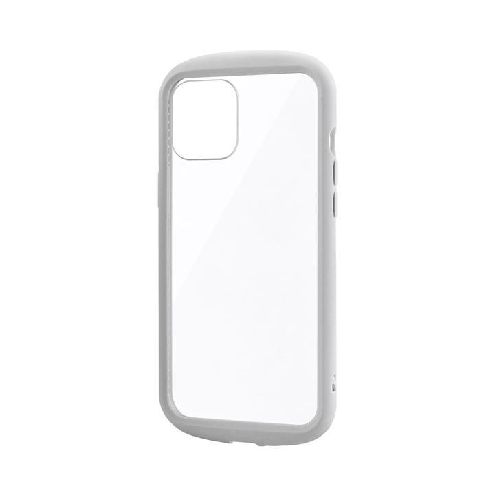 耐衝撃ハイブリッドケース「PALLET CLEAR Flat」 ライトグレー iPhone 12 Pro Max_0