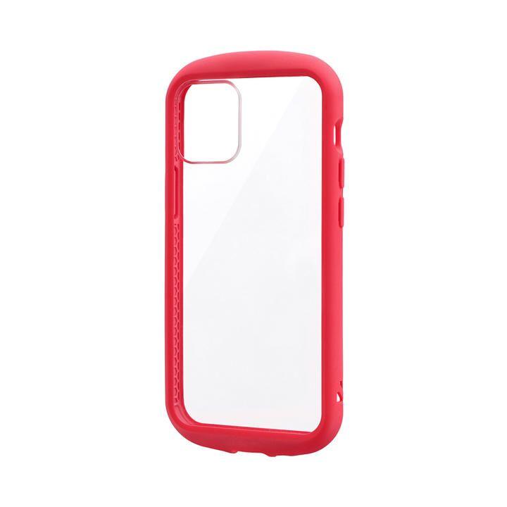 耐衝撃ハイブリッドケース「PALLET CLEAR Flat」 レッド iPhone 12 mini_0