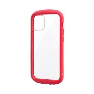 iPhone 12 mini (5.4インチ) ケース 耐衝撃ハイブリッドケース「PALLET CLEAR Flat」 レッド iPhone 12 mini