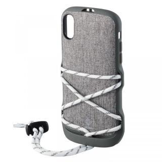iPhone XR ケース ハイブリッドケース NESTOUT フェス&キャンプ グレー iPhone XR