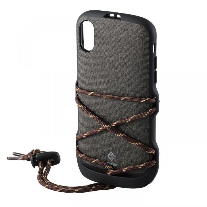 iPhone XR ケース ハイブリッドケース NESTOUT フェス&キャンプ ブラック iPhone XR_0
