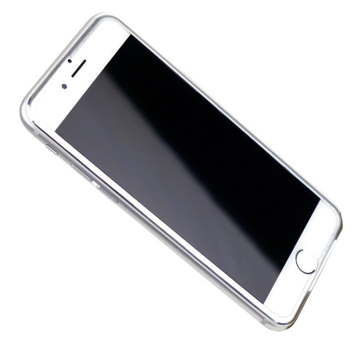 iPhone6s/6 フィルム [0.33mm]強化ガラス Glass Film i6 アルミシルバー iPhone 6s/6_0