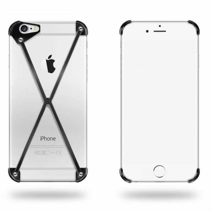 端末の美しさを活かす RADIUS case ブラック iPhone 6ケース
