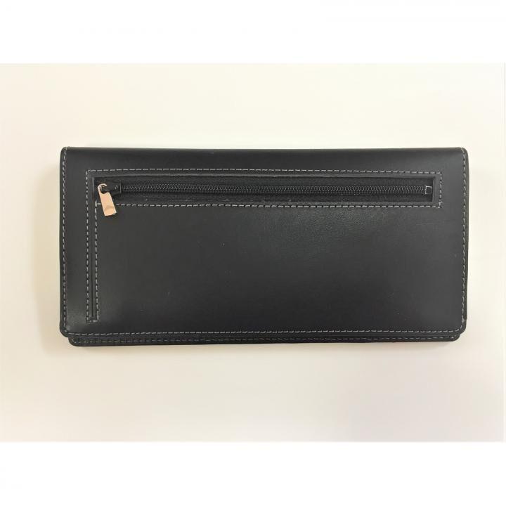 カードを30枚入れても薄い長財布(小銭入れ付)BT02 ブラック_0
