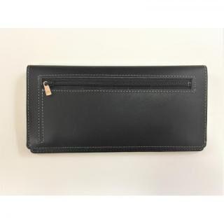 カードを30枚入れても薄い長財布(小銭入れ付)BT02 ブラック【10月下旬】