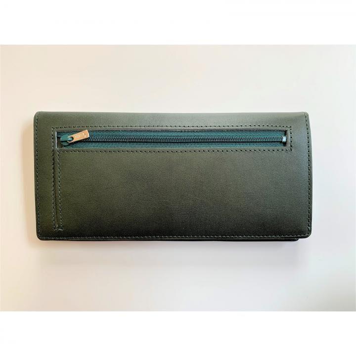 カードを30枚入れても薄い長財布(小銭入れ付)BT02 グリーン【11月下旬】_0