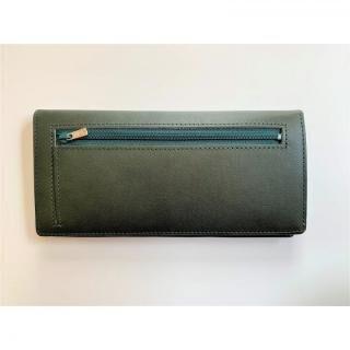カードを30枚入れても薄い長財布(小銭入れ付)BT02 グリーン