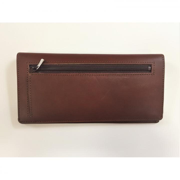カードを30枚入れても薄い長財布(小銭入れ付)BT02 チョコ_0