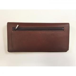 カードを30枚入れても薄い長財布(小銭入れ付)BT02 チョコ【10月下旬】