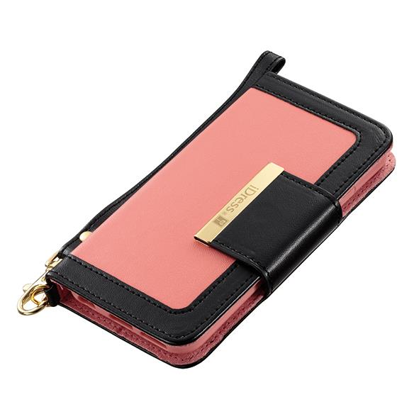 Girls 手帳型ケース ピンク×ブラック iPhone 6ケース