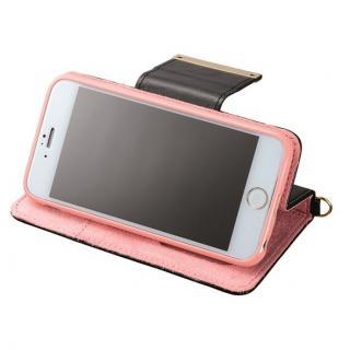 【iPhone6ケース】Girls 手帳型ケース ピンク×ブラック iPhone 6ケース_4