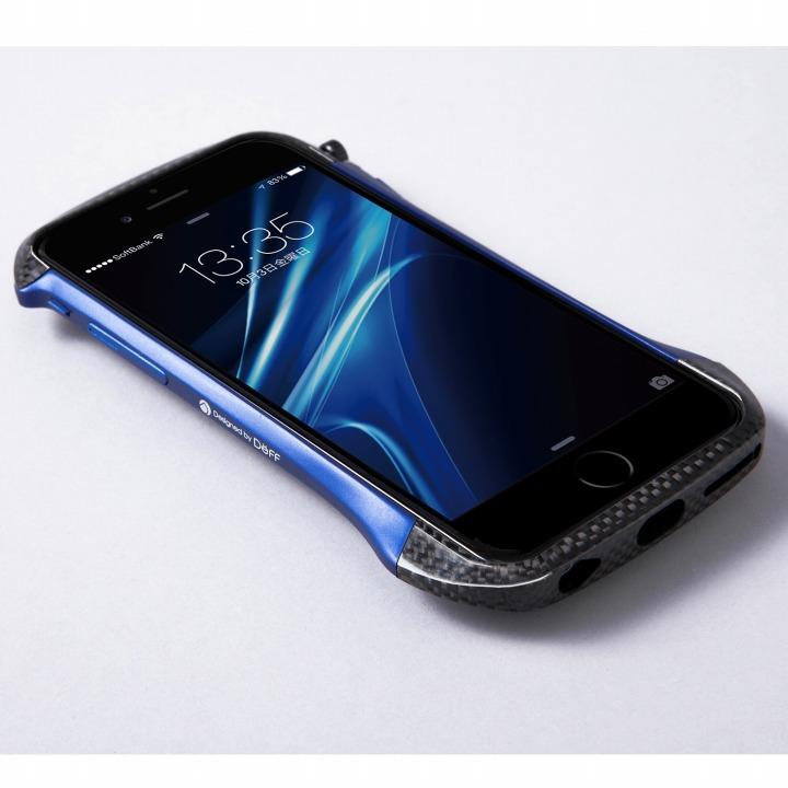 iPhone6 ケース CLEAVE アルミニウム&カーボンファイバー ハイブリッドバンパー ブルー iPhone 6バンパー_0