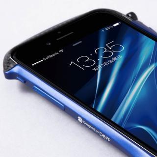 【iPhone6ケース】CLEAVE アルミニウム&カーボンファイバー ハイブリッドバンパー ブルー iPhone 6バンパー_1