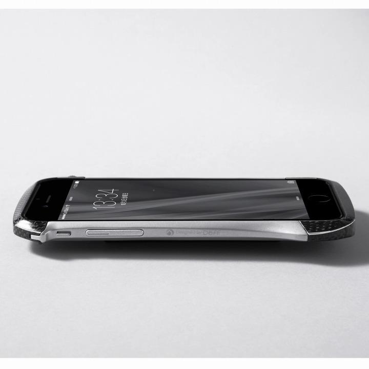 iPhone6 ケース CLEAVE アルミニウム&カーボンファイバー ハイブリッドバンパー シルバー iPhone 6バンパー_0