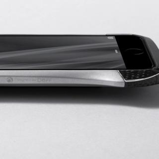 【iPhone6ケース】CLEAVE アルミニウム&カーボンファイバー ハイブリッドバンパー シルバー iPhone 6バンパー_1