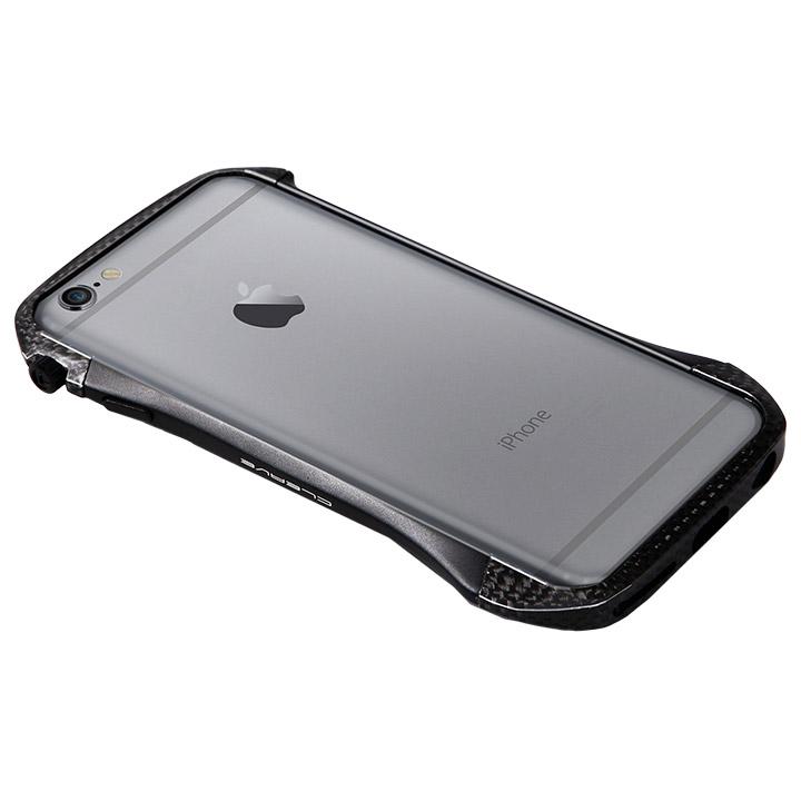 【iPhone6s/6ケース】CLEAVE アルミニウム&カーボンファイバー ハイブリッドバンパー ブラック iPhone 6s/6バンパー_0