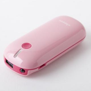 [5200mAh]モバイルバッテリー cheero Grip 2 ピーチ
