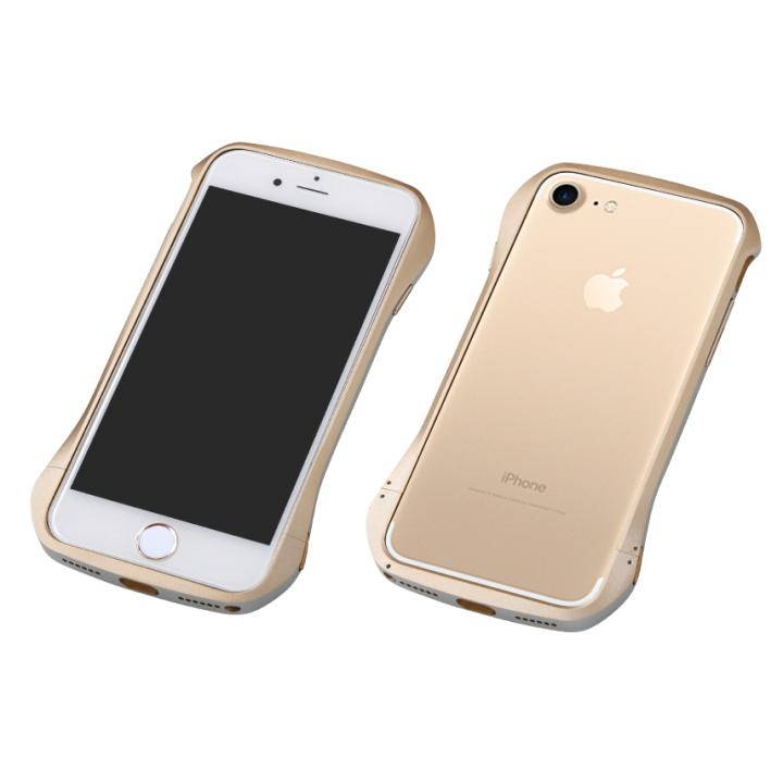 iPhone8/7 ケース Deff Cleave アルミバンパー ゴールド/シルバー iPhone 8/7_0