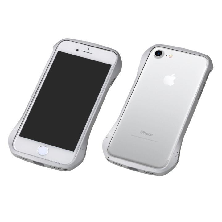【iPhone8/7ケース】Deff Cleave アルミバンパー シルバー/シルバー iPhone 8/7_0