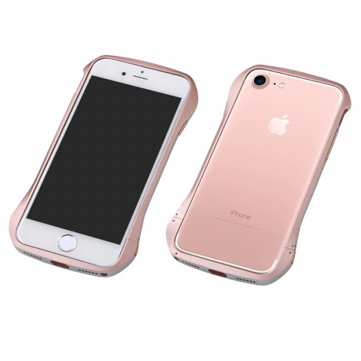 Deff Cleave アルミバンパー マルチカラータイプ ローズゴールド/シルバー iPhone 7