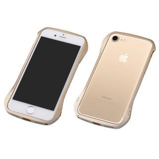 Deff Cleave アルミバンパー マルチカラータイプ ゴールド/シルバー iPhone 7 Plus