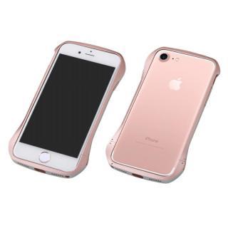 Deff Cleave アルミバンパー マルチカラータイプ ローズゴールド/シルバー iPhone 7 Plus