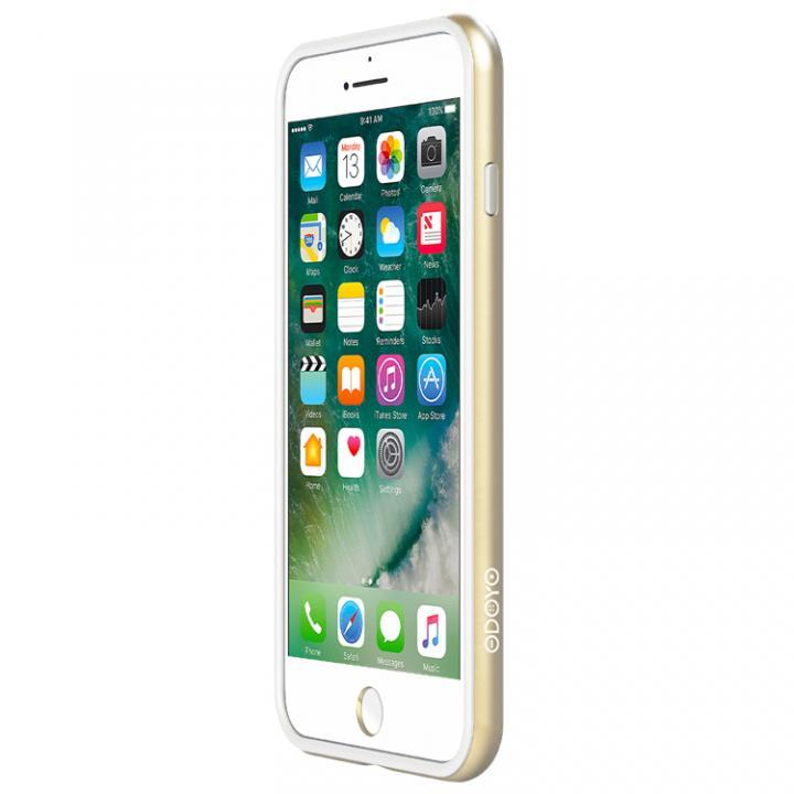 【iPhone7 Plusケース】工具不要 かんたん着脱バンパー Blade Edge ゴールド iPhone 7 Plus_0