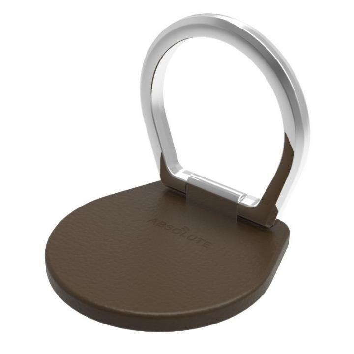 JUST RING / True Leatherシリーズ SHEILD スマホリング 落下防止 ダークブラウン_0