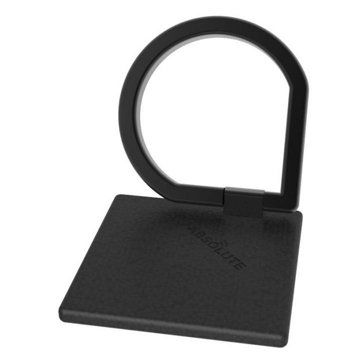 JUST RING / True Leatherシリーズ Signature スマホリング 落下防止 ブラック_0
