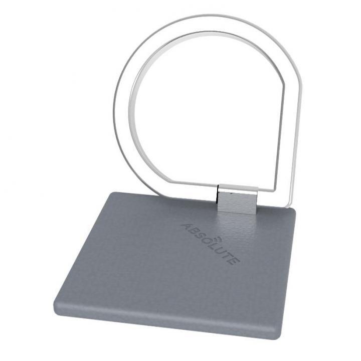 JUST RING / True Leatherシリーズ Signature スマホリング 落下防止 グレー_0