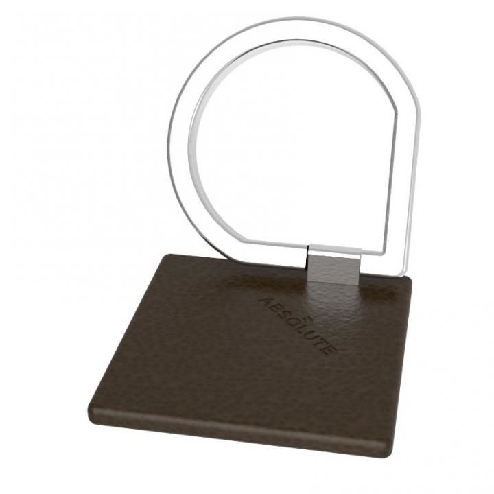 JUST RING / True Leatherシリーズ Signature スマホリング 落下防止 ダークブラウン_0