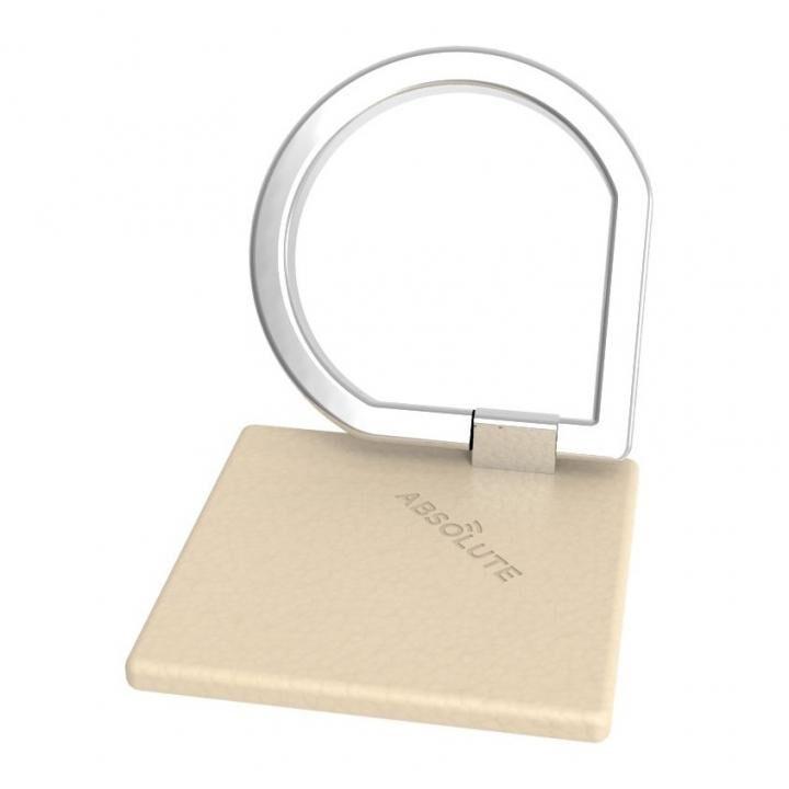 JUST RING / True Leatherシリーズ Signature スマホリング 落下防止 ベージュ_0