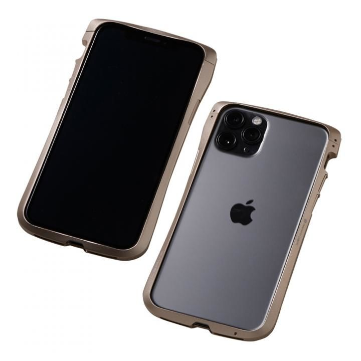 iPhone 11 Pro/XS ケース CLEAVE Aluminum Bumper アルミバンパー ゴールド iPhone 11 Pro/XS/X_0