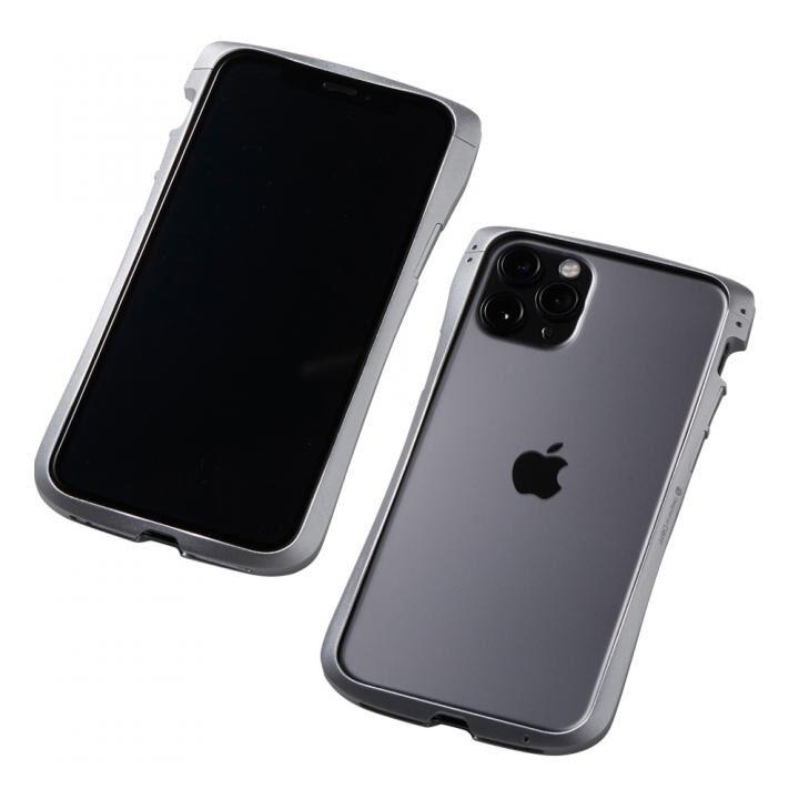 iPhone 11 Pro/XS ケース CLEAVE Aluminum Bumper アルミバンパー シルバー iPhone 11 Pro/XS/X_0