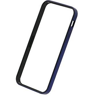 iPhone SE/5s/5 ケース フラットバンパーセット  iPhone SE/5s/5(メタリックブルー)_0