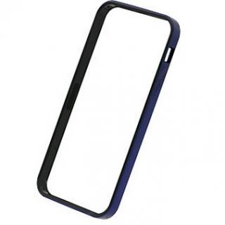 【iPhone SE/5s/5ケース】フラットバンパーセット  iPhone SE/5s/5(メタリックブルー)
