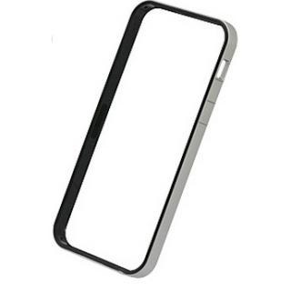 フラットバンパーセット  iPhone SE/5s/5(シルバー&ブラック)