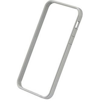 iPhone SE/5s/5 ケース フラットバンパーセット  iPhone SE/5s/5(シルバー&ホワイト)_0