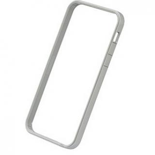[2017夏フェス特価]フラットバンパーセット  iPhone SE/5s/5(シルバー&ホワイト)