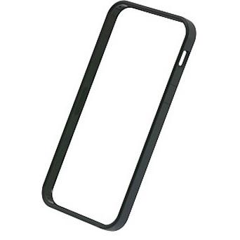 【iPhone SE/5s/5ケース】フラットバンパーセット  iPhone SE/5s/5(ブラック)_0